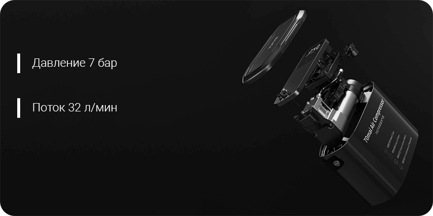 Автомобильный компрессор Xiaomi 70mai Air Compressor Midrive TP01