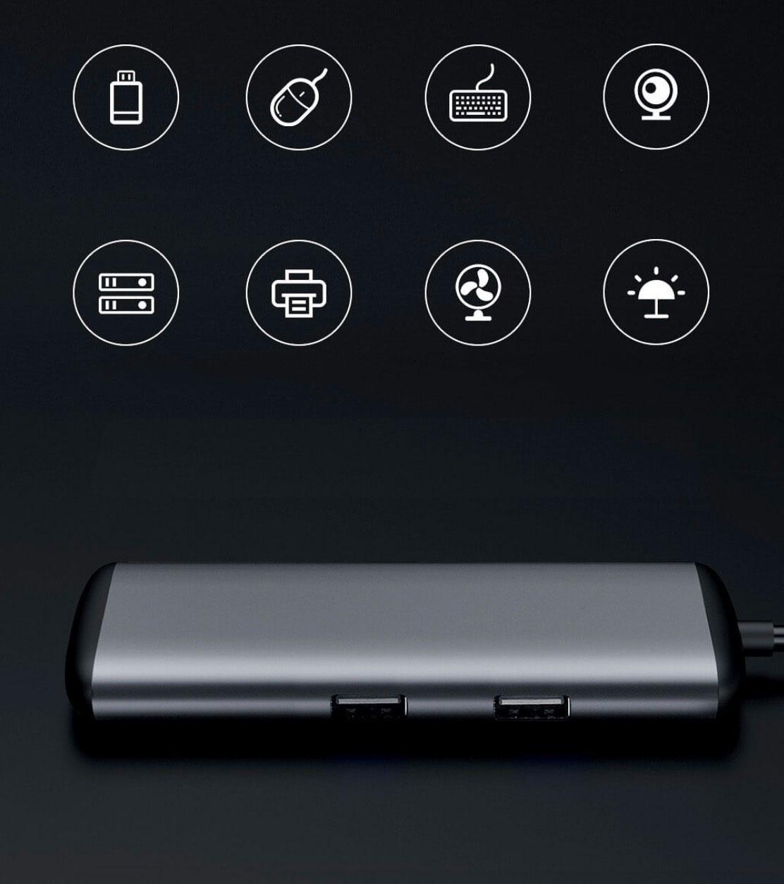 Многопортовый адаптер Xiaomi Mi HAGiBiS