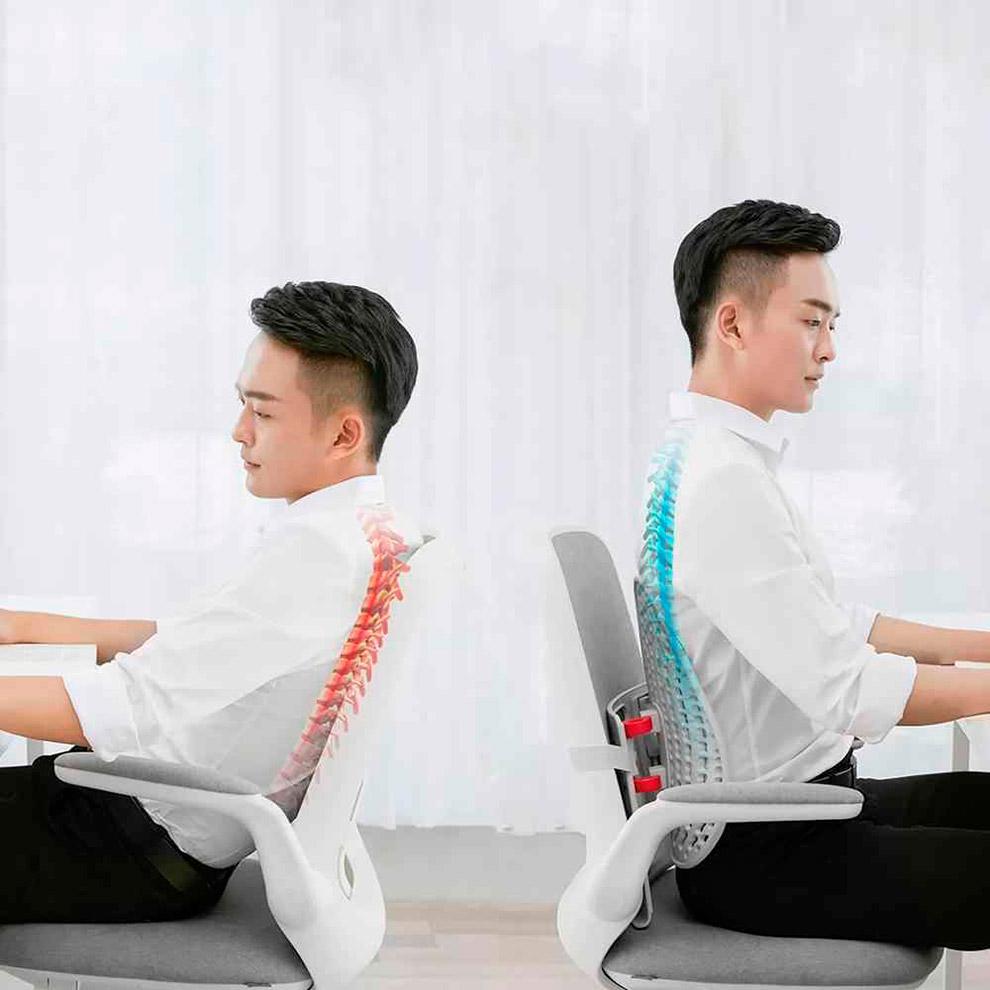 Регулируемая эргономичная подушка для спины Xiaomi Mi Leband Adjustable Ergonomic Back Pad Support