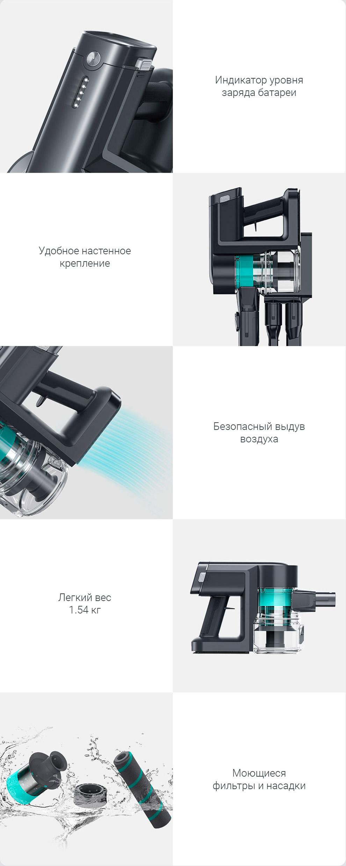 Беспроводной ручной пылесос Xiaomi Viomi A9