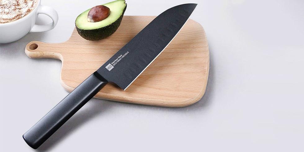Набор кухонных ножей Xiaomi Huo Hou Black Heat Knife Set
