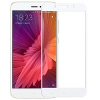 Защитное 2D стекло для Xiaomi Redmi Note 4 White (Белое) — фото