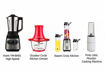 Сравнение лучших блендеров Xiaomi: Pinlo Little Monster Cooking Machine, Ocooker Circle Kitchen Grinder, Xiaomi Circle Kitchen, Viomi YM-BH01 High-Speed